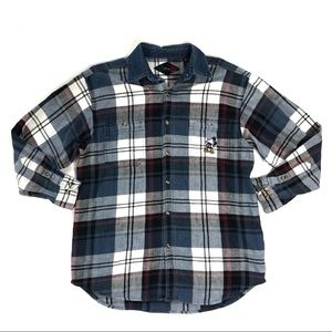 Disney men's plaid large long sleeve